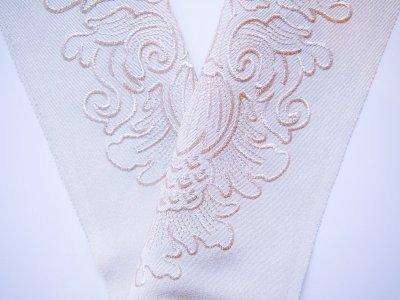画像1: kaonn オリジナル刺繍半衿 NEWグレー×シルバー