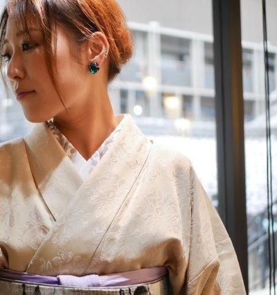画像1: kaonn original 正絹手描き半衿 victor