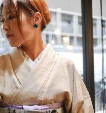 着用イメージ(実際の商品とは柄配置・色異なります)kaonn original 正絹手描き半衿<絽> victor