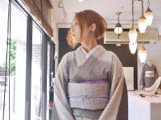 コーディネート例 kaonnオリジナルfabric帯 mat & shine  【オーダー】