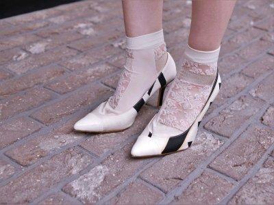 画像2: kaonnオリジナルダマスクレースラメ入り足袋