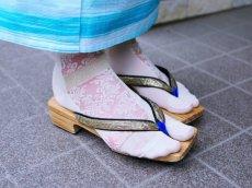 画像6: kaonnオリジナルダマスクレースラメ入り足袋 (6)