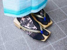 画像3: kaonnオリジナルダマスクレースラメ入り足袋 (3)
