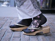 画像1: kaonnオリジナルダマスクレースラメ入り足袋 (1)