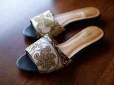 画像2: kaonn original flat sandal  23.5 TYPE2 ビロード (2)
