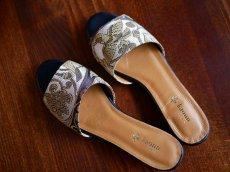 画像1: kaonn original flat sandal  23.5 TYPE2 ビロード (1)