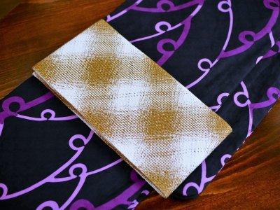 画像2: 組み織 単衣 半幅帯