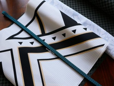 画像1: kaonnオリジナル正絹 染名古屋帯 GOLD FLASH
