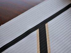 生地アップ:正絹手染め名古屋帯 白地 GOLD FLASH
