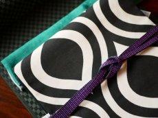1.パープル コーディネート例平帯締め v-stripe 正絹 小紋用 紬着物用