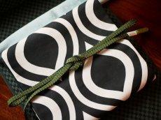 2.グリーン コーディネート例平帯締め v-stripe 正絹 小紋用 紬着物用