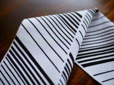 正絹半衿  型染めモノトーン