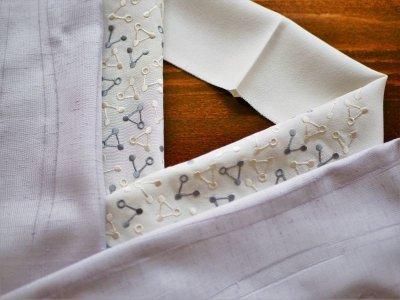 画像2: 手刺繍 正絹 半衿 トライアングル
