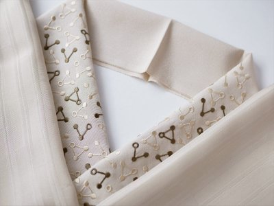 画像3: 手刺繍 正絹 半衿 トライアングル