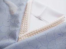 コーディネート例 手刺繍 正絹 半衿 網代 ピンクベージュ