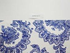 画像9: 染め名古屋帯【博多織帯地】ペイズリーロイヤルブルー (9)