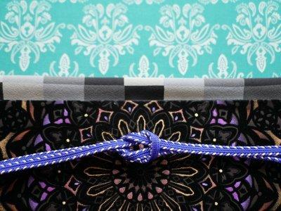 画像1: 帯締め side silver stripe