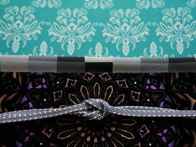 画像2: 帯締め side silver stripe
