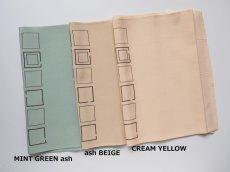 画像左側から◆MINT GREEN ash  (ミントグリーンアッシュ)  ◆Y-140: ash BEIGE  (アッシュベージュ)  ◆Y-141:CREAM YELLOW  (クリームイエロー)