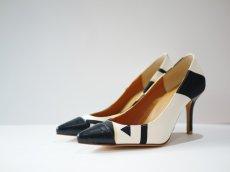 画像1: kaonn original 8.5cm heel pumps GOLD FLASH /  white 23.5 (1)