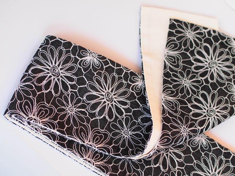 画像2: 刺繍半幅帯