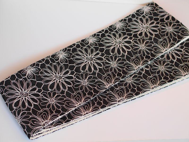 画像1: 刺繍半幅帯