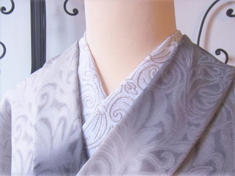 画像1: kaonn-日音衣- オリジナル 夏刺繍半衿