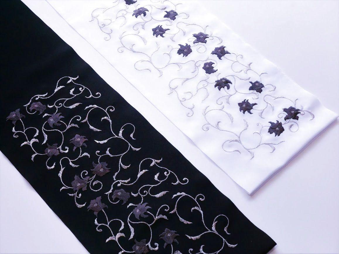 画像1: 刺繍半衿