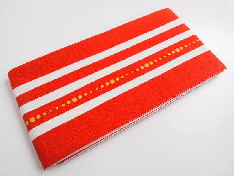 画像1: コットン半巾帯
