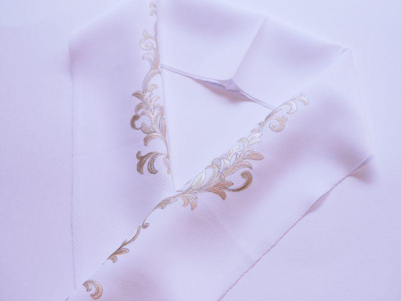 画像1: kaonn original 正絹手描き半衿 victor (1)