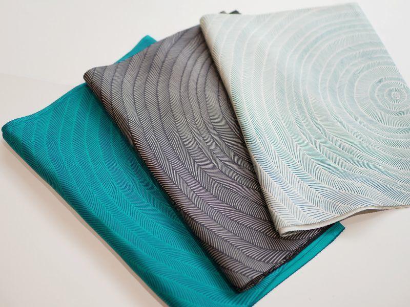 画像1: 正絹帯揚げ 型染め SLASH pattern (1)