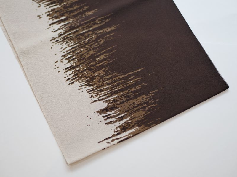 画像1: 正絹帯揚げ Birch (1)