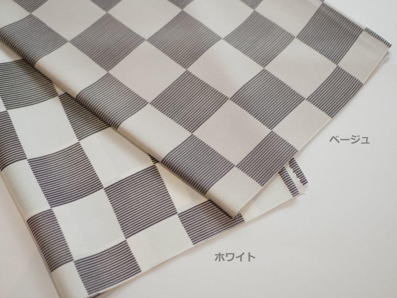 画像1: 正絹帯揚げ Linear Ichimatsu (1)