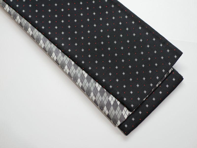 画像1: 正絹・半幅帯 西陣織 (1)