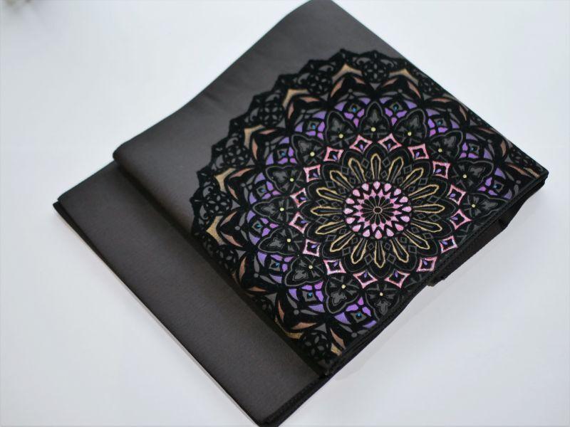 画像1: 袋帯 charcoal-mogol (1)