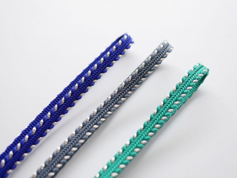 画像1: 帯締め side silver stripe (1)
