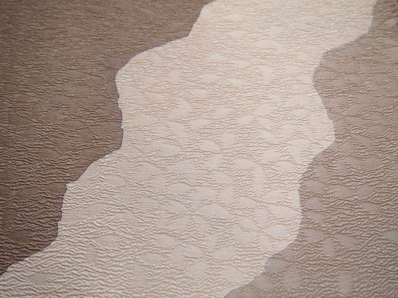 画像3: 斜め取りbrown◆正絹帯揚げ